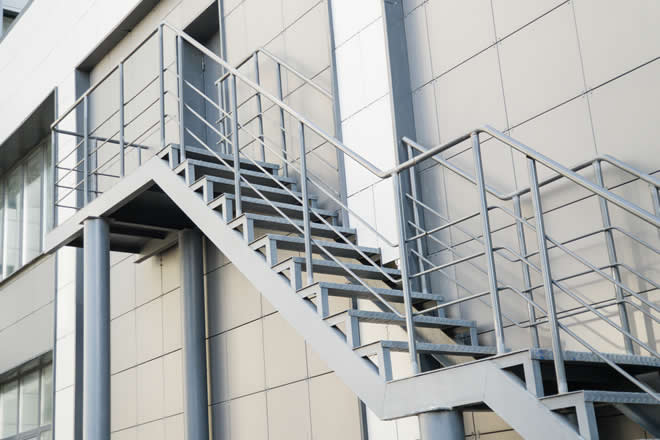 Metal escape stairs by Professional steel staircase fabricators