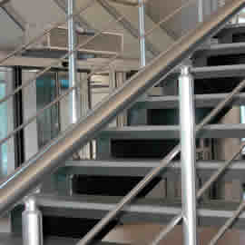 Powder Coated Steel stairs